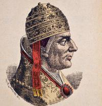 "Nicholas IV (1227-1292). Pope of Roma (1288-1292). ""La storia dei papi del cardinale Hergenrother"". 1898. Engraving. Costa/Leemage. Photoaisa."