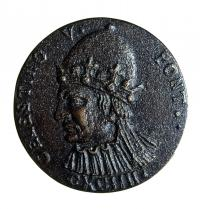 Celestine V 1209-1296). Pope of Rome during a few months in 1294, after being the post vacant for more than two years. Medal with effigy. Cabinet of Medals in Rome. Coin. Costa/Leemage. Photoaisa.