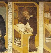 Benedikto XI (1240-1304). Erromako aita santu (1303-1304). Tommaso da Modenaren (1325-1379) fresko pintura. Capitolo dei Domenicaniko aretoa, Vescovileko Apaiztegia, Treviso, Italia. Electa/Leemage Photoaisa.