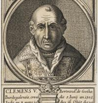 Clement V (1264 - 1314). Pope from 1305 to 1314. Portrait. First Pope residing in Avignon. Engraving. Mary Evans. Photoaisa.