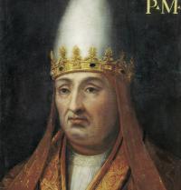 Bonifazio VIII (1235-1303). Erromako aita santu (1294 eta 1303). Pintura. Florentzia, Italia. Uffizi galeria. BeBa/Iberfoto. Photoaisa.