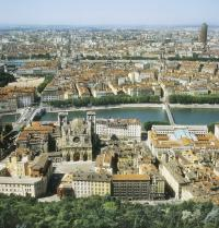 Old town of Lyon. View of the bank of the river Saone. Lyon. France. Iberfoto. Photoaisa.