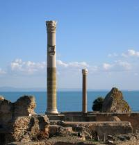 Ruins of Carthage in front of the Mediterranean Sea. Lotharingia. Fotolia