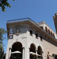 Palast Palau March (1940-45). An der Ecke der Stra?e Carrer Costa de la Seu. Palma. IRU, S.L.