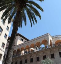 Palast Palau March (1940-45). Fassade an der Carrer Conquistador. Palma. IRU, S.L.