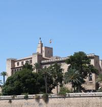 Palast La Almudaina, gotisch (Anfang des 14. Jahrhunderts). Der Palast wurde auf muslimischen Resten erbaut. Palma. IRU, S.L.