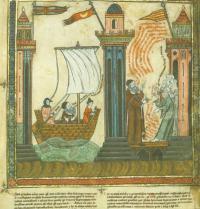 Ramon Llull reist nach Tunis. Breviculum, IX. Thomas le Myésier, 1325. http://lullianarts.net/