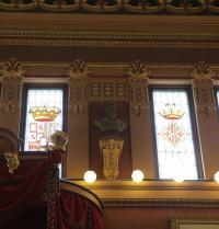 Bust de Ramon Llull a la sala de plens de l'Ajuntament de Palma. IRU, SL.