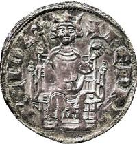 Henri II de Lusignan (1271-1324). King of Cyprus. Coin with the king's face. Baldwin's Auctions Ltd.