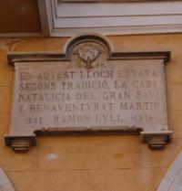 Plaque (1888) marking Ramon Llull's birth place. Plaza Major. Palma. IRU, SL.